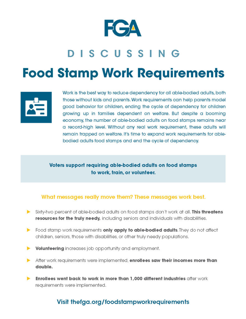 food stamp work requirements